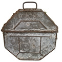 Antique 1958 Warner Bros Galvanized Metal Film Canister