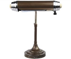 Antique Art Deco Chromium and Enamel Desk Lamp