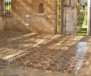 Antique Encaustic and Terracotta Flooring