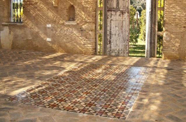 Antique Encaustic And Terracotta Flooring