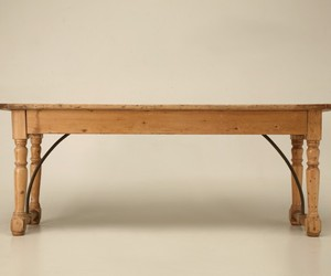 Antique Irish Pine Sofa Console and Work Table