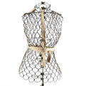 Antique Metal Mesh Dritz My Double Dress Form Mannequin