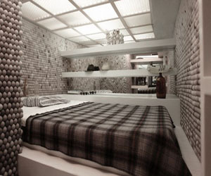 Apartment With 25,000 Ping Pong Balls On Its Walls