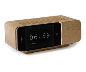 Apple iPhone Wooden Alarm Dock