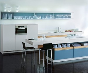 Aqua Blue Plusmodo Kitchen from Poggenpohl