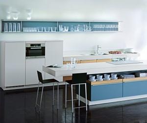 Aqua Blue Plusmodo Kitchen from Poggenpohl