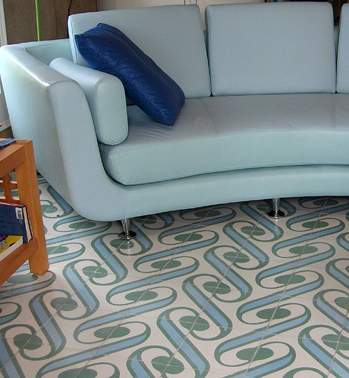 Aqua Surf Encaustic Tile From Villa Lagoon Tile