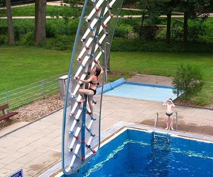 AquaClimb - Pool Side Climbing Wall