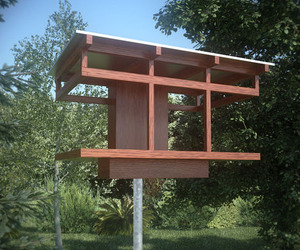 Architectural Bird Houses and Feeders from Neoshed