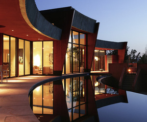 Architecture of LUNA ROSSA House in Arizona by SANBA Design