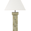 Artisan crafted 'Watchtower' series concrete table lamp