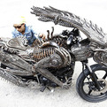 Artist Creates an Alien Bike from Recycled Materials