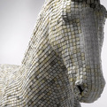 Horse Sculpture From Recycled Computer Keys | Babis