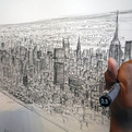 Detailed New York Cityscape Drawn by Memory