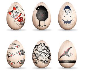Artist (& Robot) Decorated Eggs Benefit  Japan