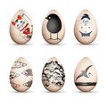 Artist (& Robot) Decorated Eggs Benefit  Japan