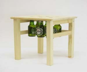 Atractive Chair Design With a Bottle of Beer Hanging