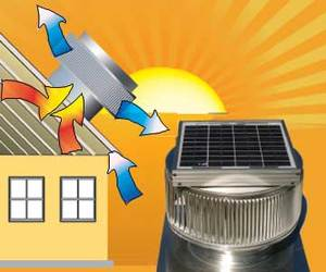 Aura Solar Attic Fan from Active Ventilation Products