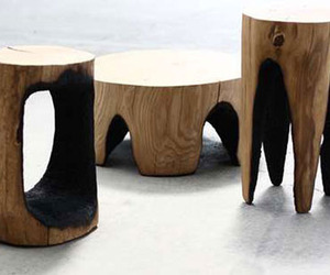 Ausgebrannt:  Burned Wood Furniture