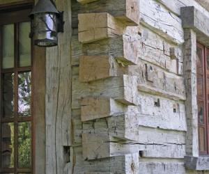 Authentic Hand Hewn Timber Siding
