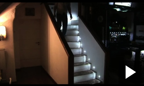 automatic led stair lights. Black Bedroom Furniture Sets. Home Design Ideas