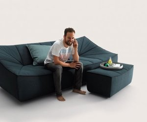 BAHIR Sofa and Armchair by Jörg Boner