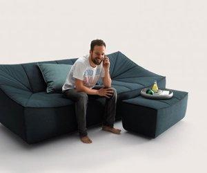 BAHIR Sofa and Armchair by Jörg Boner