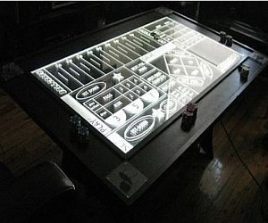 Ballcraps edge-lit LED coffee table