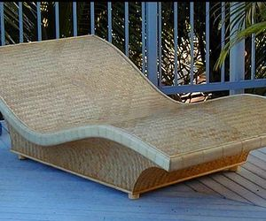 Bamboo Chaise Lounge