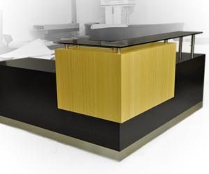 Bamboo reception desk!