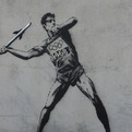 Banksy's Latest Olympic-Themed Wall Murals