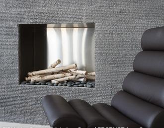 Basalt Fireplace Wall