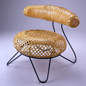 Basket Chair by Isamu Noguchi and Isamu Kenmochi