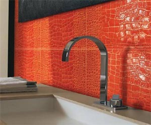 Bathroom Wall Tiles Leather Crocodile by Petracer