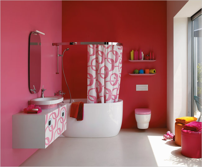 Bathrooms Pretty In Pink Again