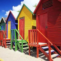 Beach Huts in St. James, South Africa