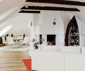 Beautiful attic design in Stockholm
