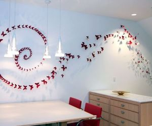 Beautiful butterflies made of empty beer cans