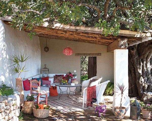 Beautiful country chic home in the south of spain - Terrazas rusticas ...