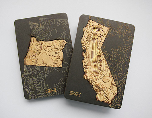 Beautiful Package Design For Topographic Us State Magnents