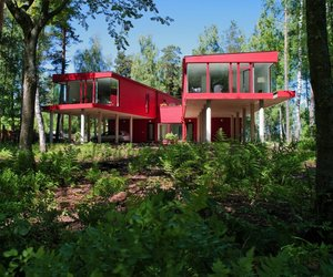 Beautiful Two Sisters Red House by NRJA