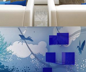 Beautiful Wallpaper Mural Azul