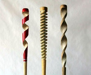 Beautifully Carved Baseball Bats As Sculptures