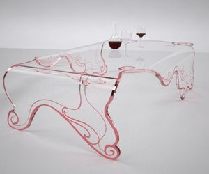Beautifully crafted glass coffee table
