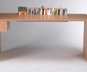Beech Desk With Book Storage