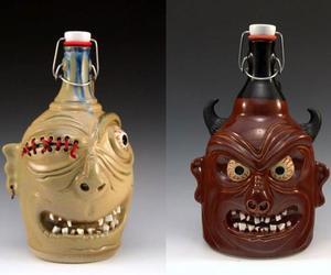 Handmade Beer Growlers by Carlburg Pottery