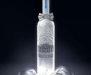 Belvedere Vodka with platinum and silver Bow tie