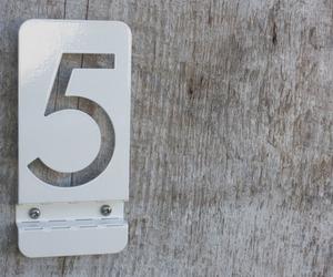 Bent Metal House Numbers