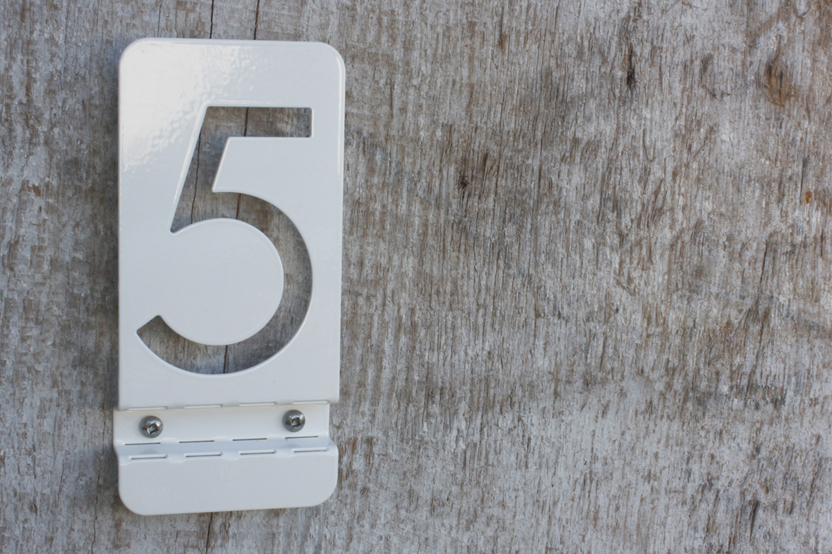 Bent Metal House Numbers - Cheap metal house numbers