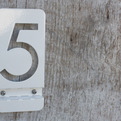 Bent Metal House Numbers